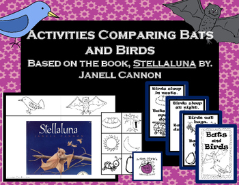 Bats & Birds Activities to Compare - Great Literacy Compan
