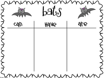 Bats Can/Have/Are