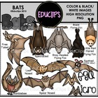 Bats Clip Art Bundle
