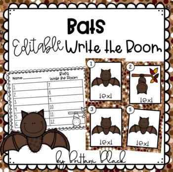 Bats~ Editable Write the Room