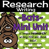 "Bats Mini Unit ~ Simple ""Research"" writing mini unit for 1"