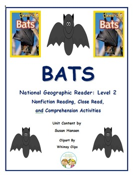 Bats Nonfiction Unit: National Geographic Kids Level 2
