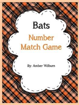 Bats Number Matching Activity