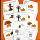 Bats, Pumpkins, Turkeys,  Positional Word, Cut and Paste E