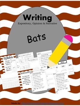 Bats Writing-Informative Opinion Narrative CCSS