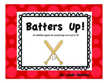 Batters Up! Addition Within 10