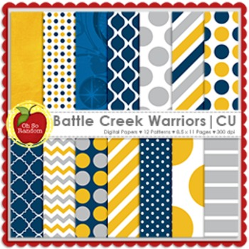 Battle Creek Warriors {Papers for Commercial Use}