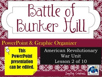 Battle of Bunker Hill PowerPoint and Graphic Organizer