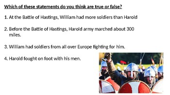 Battle of Hastings Assesment