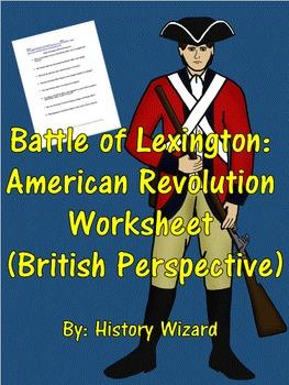 Battle of Lexington: American Revolution Worksheet (Britis