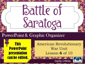 Battle of Saratoga PowerPoint and Graphic Organizer