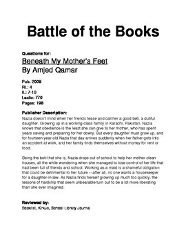 Battle of the Books Questions - Beneath My Mother's Feet