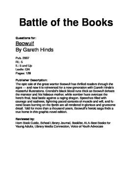 Battle of the Books Questions - Beowulf (GN) by Hinds