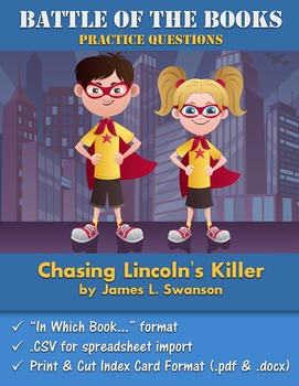 Battle of the Books Questions: Chasing Lincoln's Killer by