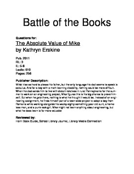 Battle of the Books - The Absolute Value of Mike