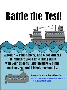 Battle the Tests!  Bookmarks and Posters to Prepare for St