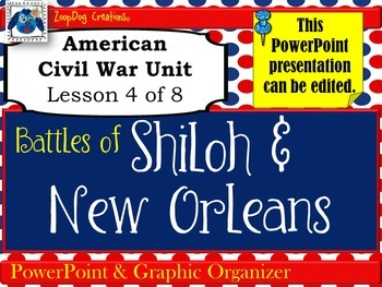 Battles of Shiloh and New Orleans PowerPoint and Graphic O