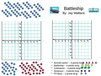 Battleship Game X/Y Coordinate Plane