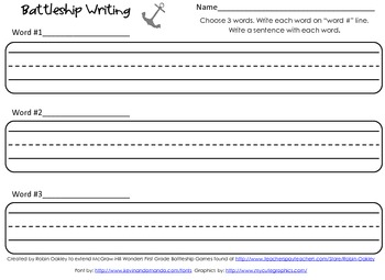 Battleship Writing