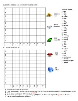 Realidades 8A vocabulary Battleship style activity