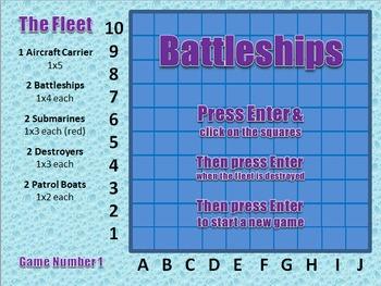 Battleships on PowerPoint (games 41-50)