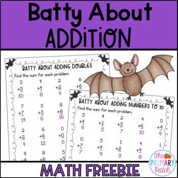 Batty About Addition: A Halloween Math Freebie