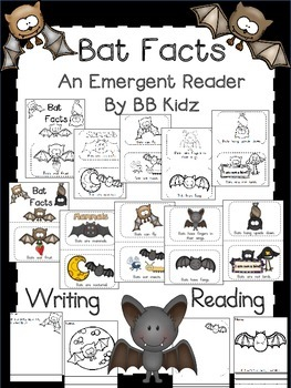 Batty Bat Facts - An Emergent Reader for Kindergarten and