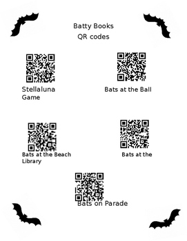 Batty Books QR codes
