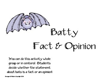Batty Fact & Opinion