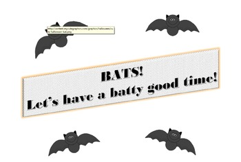 Batty Good Time - Bat Lesson Plan/Mini Unit