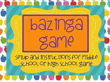 ***Bazinga Game*** Pink, brown, and lime