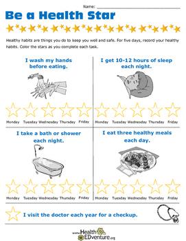 Be A Health Star: Health Habits