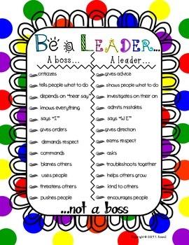 Be A Leader Motivational Poster Primary Design