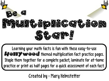 Be A Multiplication Star! (Math Fact Practice for 1-12)