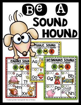 Be A Sound Hound {Posters for Beginning, Middle, Ending So
