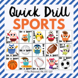 Be A Sport Quick Drill {for articulation or fluency therap