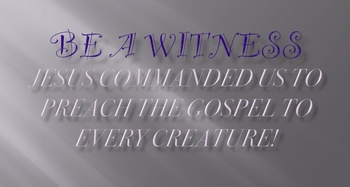 Be A Witness - Children's Church/VBS - Powerpoint with Mem