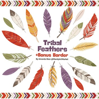 Be Brave Tribal Feathers Clipart & Vectors in Autumn - Fea