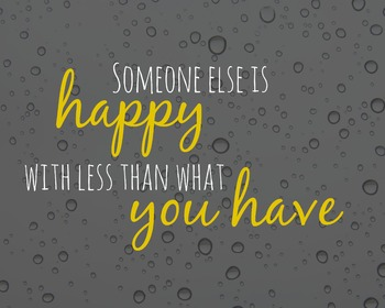 Be Happy with What You Have Printable Poster