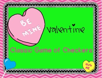 Be My Valentine Classic Game of Checkers Freebie