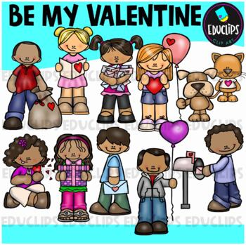 Be My Valentine Clip Art Bundle {Educlips Clipart}