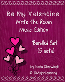 Be My Valentine Write the Room Music Edition Bundled Set (5 sets)