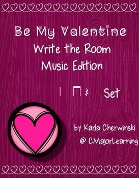 Be My Valentine Write the Room Music Edition Z (quarter rest) Set