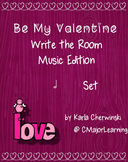 Be My Valentine Write the Room Music Edition half note Set
