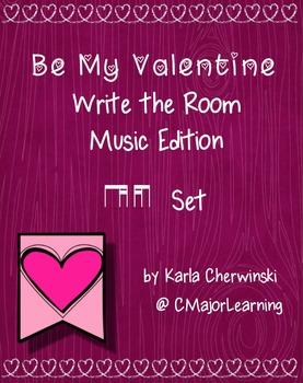 Be My Valentine Write the Room Music Edition ti-tika/tika-ti Set