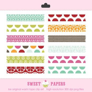 Be Original Polkadot Washi Tape Digital Clip Art Set - by