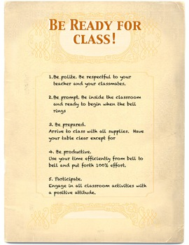 Be Prepared Poster!