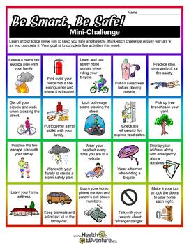 Be Smart, Be Safe Mini Challenge
