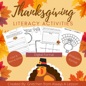 Be Thankful Thanksgiving Writing Activity