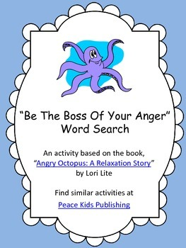 """""""Be The Boss Of Your Anger"""" Word Search"""